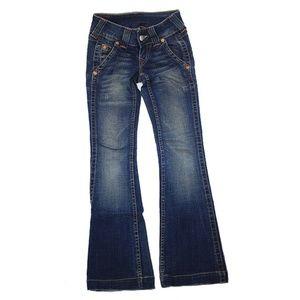 True Religion Acid Wash Emma Boot Cut Jeans